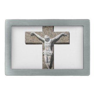 Jesuschrist on a Cross Sculpture Rectangular Belt Buckle