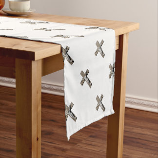 Jesuschrist on a Cross Sculpture Short Table Runner