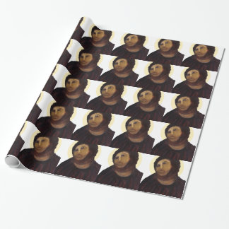 jesuz painting wrapping paper