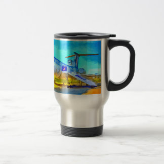 Jet Aircraft Pop art Travel Mug