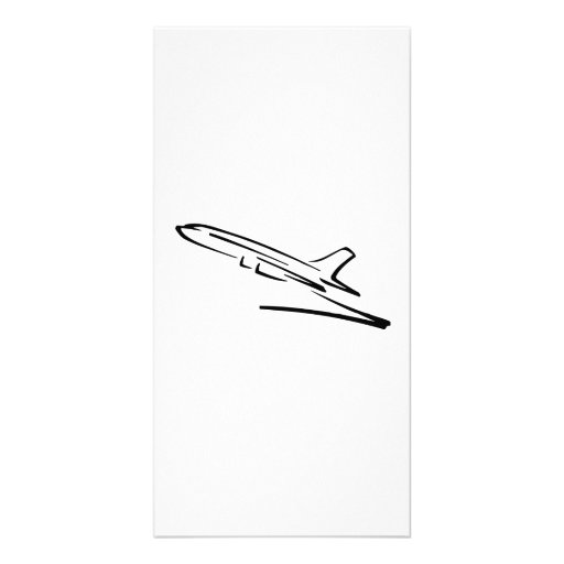 Jet Airliner Photo Card Template