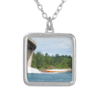 Jet Boats on a run, St Joseph Island Silver Plated Necklace
