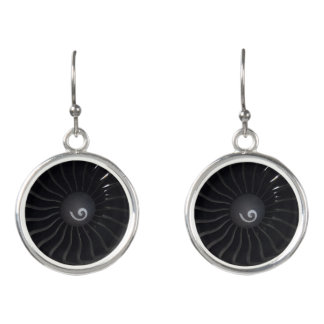 Jet Engine Drop Earrings