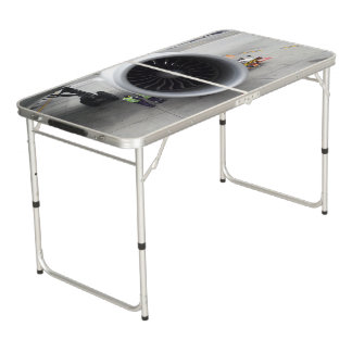 Jet Engine Tailgate Size Pong Table