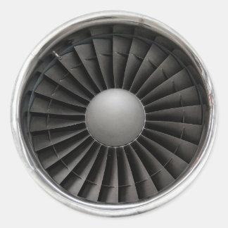 Jet Engine Turbine Fan Classic Round Sticker