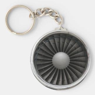 Jet Engine Turbine Fan Key Ring