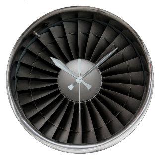 Jet Engine Turbine Fan Large Clock