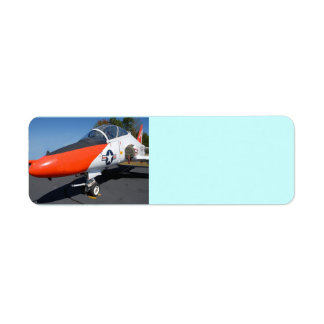 jet fighter aircraft return address label
