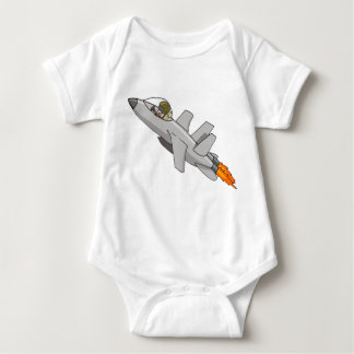 Jet Fighter Pilot Baby Baby Bodysuit