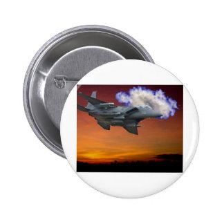 Jet Fighter Sunset 6 Cm Round Badge