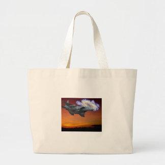 Jet Fighter Sunset Canvas Bag