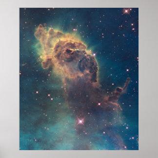 Jet in Carina Nebula Poster