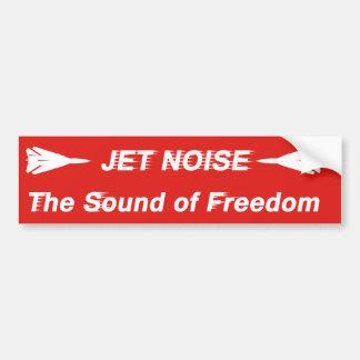 Jet Noise Bumper Sticker