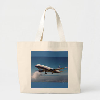 Jet over LA Large Tote Bag