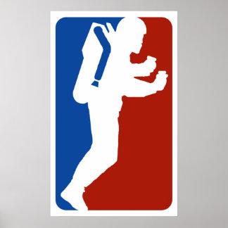 Jet Pack logo poster print