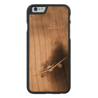 Jet Plane in Sky Pilot Wooden iPhone 6 6S Cases Carved® Cherry iPhone 6 Slim Case