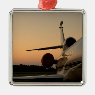 Jet Plane Wing Fly Airport Metal Ornament