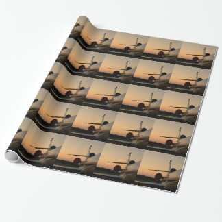 Jet Plane Wing Fly Airport Wrapping Paper