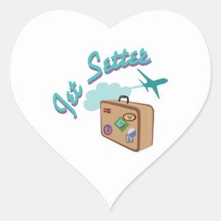 Jet Setter Heart Sticker
