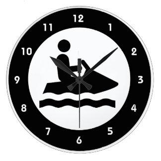 Jet Ski Design Wall Clock