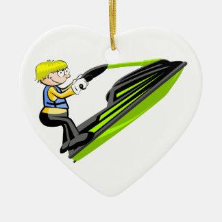 Jet ski fan ceramic ornament