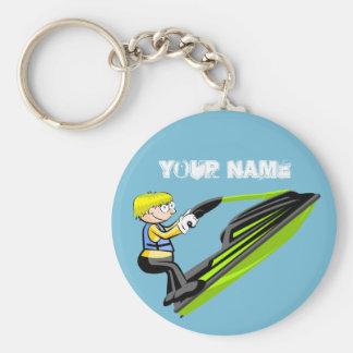 Jet ski fan key ring