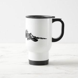 Jet ski on wave travel mug