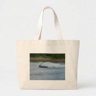 Jet Skier on Lake Large Tote Bag