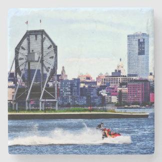 Jet Skiing by Colgate Clock Stone Coaster