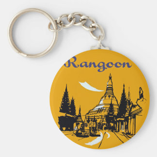Jet Your Way to Rangoon Basic Round Button Key Ring