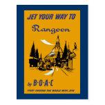 Jet Your Way to Rangoon Postcard