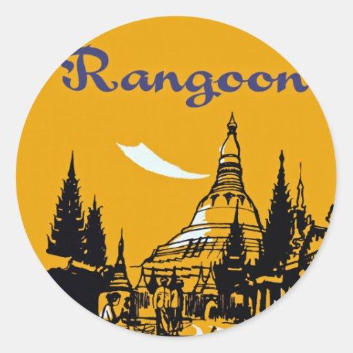 Jet Your Way to Rangoon Round Sticker