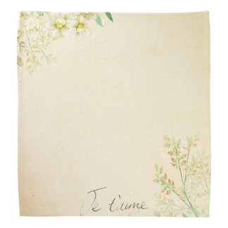 'Jet'aime' - French Vintage Victorian Floral Bandana