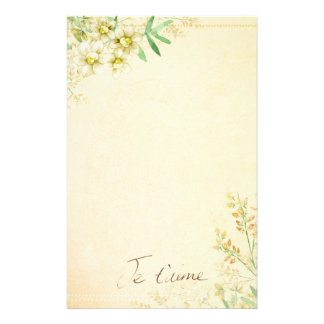 'Jet'aime' - French Vintage Victorian Floral Stationery