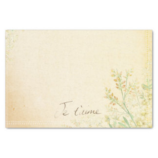 'Jet'aime' - French Vintage Victorian Floral Tissue Paper