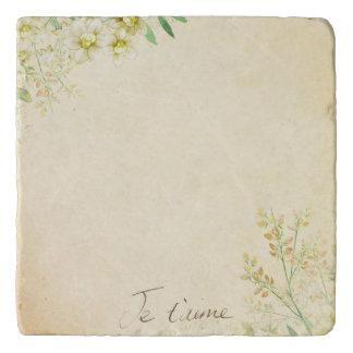 'Jet'aime' - French Vintage Victorian Floral Trivet