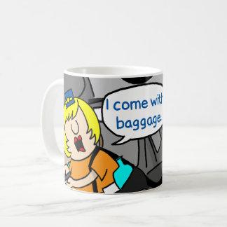 Jetlagged Comic | I Come with Baggage Mug