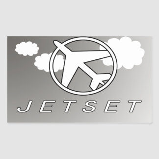 Jetset | Hollidays | Fly Away Rectangular Sticker