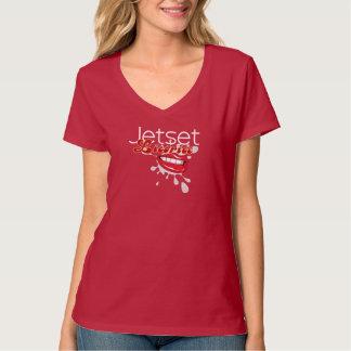 Jetset Licorice > Womens V-Neck T-Shirt
