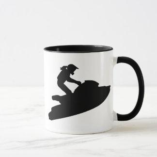 Jetski woman mug