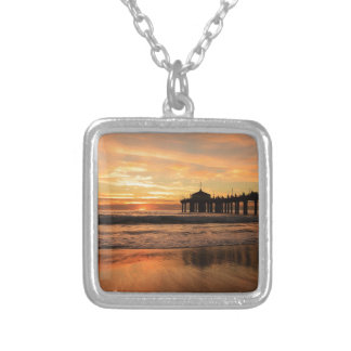 Jetty at Sunset Square Pendant Necklace
