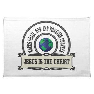 Jeus christ savior man placemat