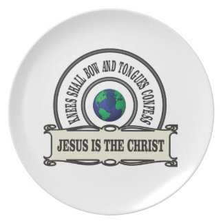Jeus christ savior man plate