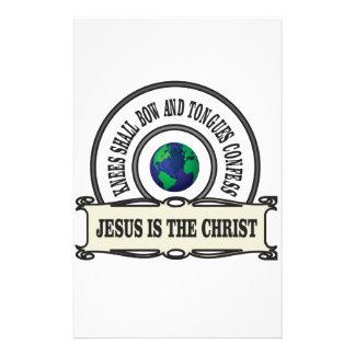 Jeus christ savior man stationery