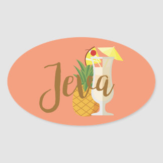 Jeva Oval Sticker