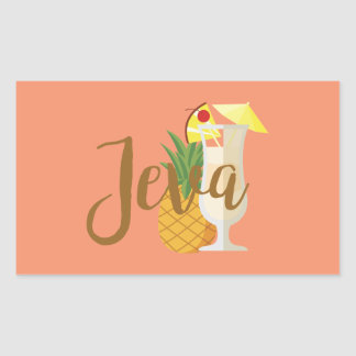 Jeva Rectangular Sticker