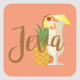 Jeva Square Sticker