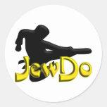 Jewdo Classic Round Sticker