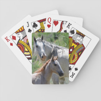 Jewel and her foal Foxy Little Feather Playing Cards