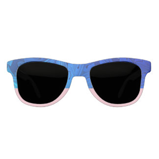 Jewel Blue & Retro Pink Statement Sunglasses
